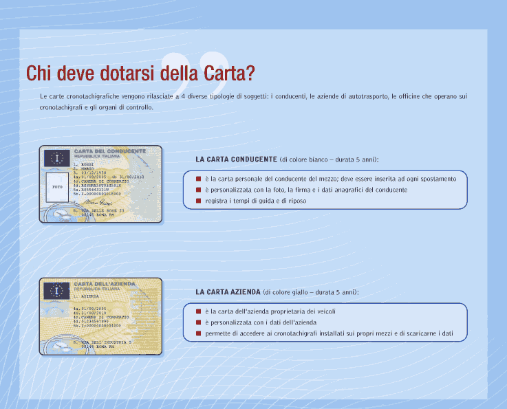carte cronotachigrafo